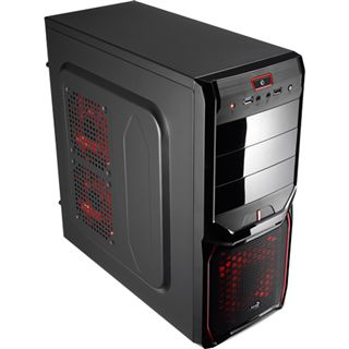 AeroCool V3X Advance Devil Red Edition Midi Tower ohne Netzteil