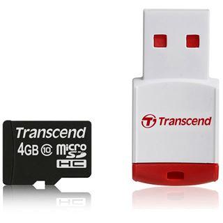4 GB Transcend microSDHC Class 10 Retail inkl. USB-Adapter