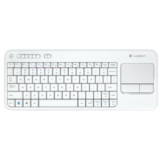 Logitech K400 Wireless Touch Keyboard USB Deutsch weiß