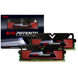 8GB GeIL EVO Potenza Onyx Black DDR3-1600 DIMM CL11 Dual Kit