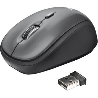 Trust Yvi Wireless Mini Mouse USB grau (kabellos)