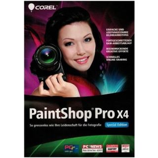 Corel Paint Shop Pro Photo X4 - Special Edition 32/64 Bit Deutsch Grafik Vollversion PC (DVD)