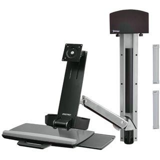Ergotron StyleView Sit-Stand Combo System Wandhalterung schwarz/silber
