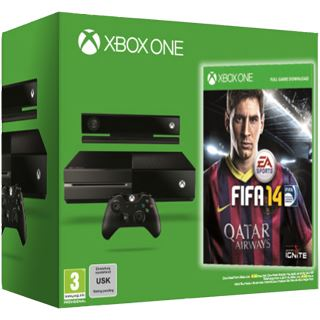 Microsoft XBox One Konsole 500GB HDD Wi-Fi FIFA 14 schwarz (XOne)