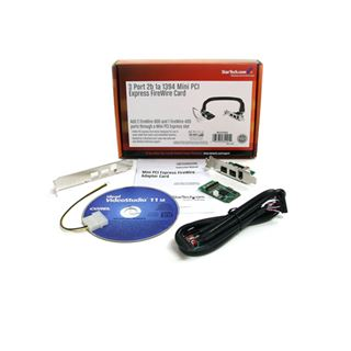 Startech MPEX1394B3 3 Port PCIe Mini Card interner Stromanschluss