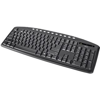 Trust Eyso Multimedia Keyboard USB Deutsch schwarz (kabelgebunden)