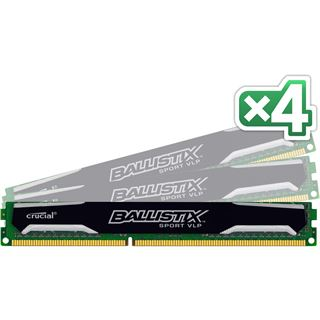 32GB Crucial Ballistix Sport VLP DDR3L-1600 DIMM CL9 Quad Kit