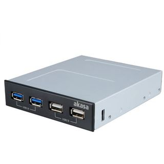 "Akasa 2x USB 2.0 + 2x USB 3.0 Panel für 3,5"" (AK-ICR-12V3)"