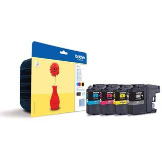 Brother LC-121 Tintenpatrone schwarz und dreifarbig 1-pack blister ohne Alarm