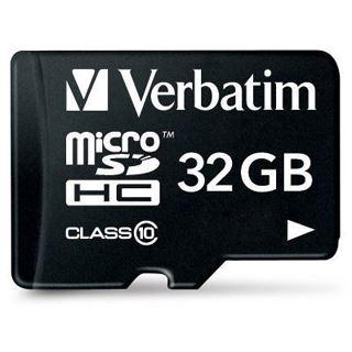 32 GB Verbatim miniSDHC Class 10 Retail inkl. Adapter auf SD