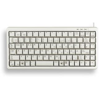 CHERRY Compact Tastatur G84-4100LCMCH-0 CHERRY ML PS/2 & USB Schweizer Deutsch grau (kabelgebunden)