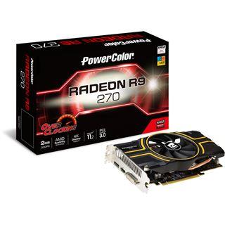 2GB PowerColor Radeon R9 270 OC Aktiv PCIe 3.0 x16 (Retail)