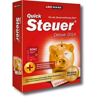 Lexware QuickSteuer Deluxe 2014 32/64 Bit Deutsch Office Vollversion