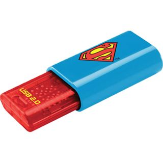 8 GB EMTEC C600 Superman Logo rot/blau/gelb USB 2.0