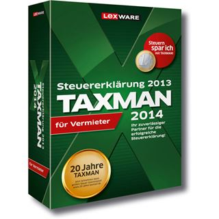 Lexware Taxman 2014 für Vermieter Deutsch Finanzen Vollversion