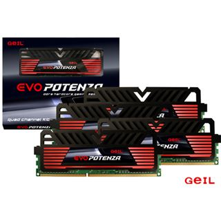 16GB GeIL EVO Potenza Black Series DDR3-1600 DIMM CL9 Quad Kit