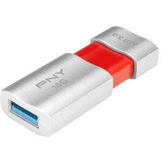 16 GB PNY Wave Attache silber/orange USB 3.0