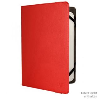 "V7 Universal Folio Case Tablet 8"" rot"