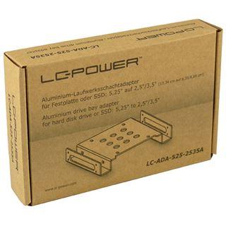 """LC-Power 5,25"""" Aluminium Festplattenadapter für 2.5"""""""