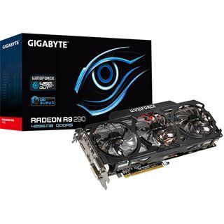 4GB Gigabyte Radeon R9 290 Windforce 3X OC Aktiv PCIe 3.0 x16 (Retail)
