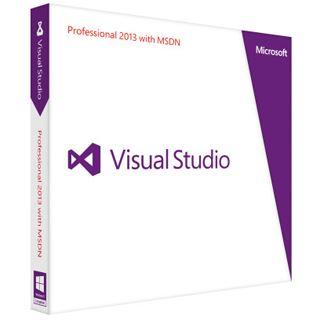 Microsoft Visual Studio 2013 Professional + MSDN 32/64 Bit Deutsch Grafik FPP PC (DVD)