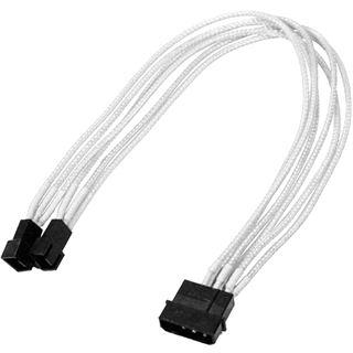 Nanoxia 30 cm weißes Y-Kabel für 4-Pin Molex zu 2x 3-Pin