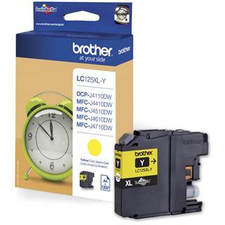 Brother MFC-J4510 Tinte Gelb LC-125XLYBPRF -1200S BL RF, Kapazität: 1200