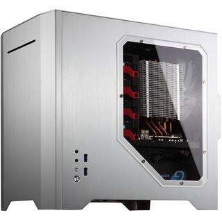 Cooltek W1 mit Sichtfenster Mini Tower ohne Netzteil silber