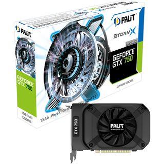 1GB Palit GeForce GTX 750 StormX OC Aktiv PCIe 3.0 x16 (Retail)