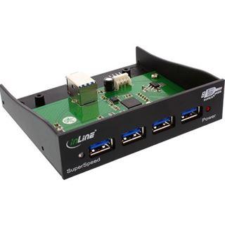 """InLine 4x USB 3.0 Frontpanel für 3,5"""" (33395B)"""