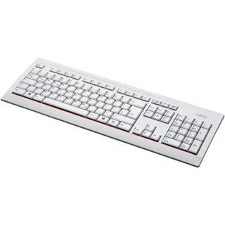 Fujitsu KB521 USB Deutsch weiß/grau (kabelgebunden)