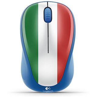 Logitech M235 Italien USB blau/rot/gruen/weiß (kabellos)