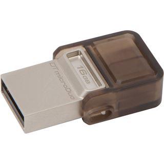 16 GB Kingston DataTraveler microDuo braun USB 2.0 und microUSB