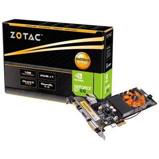 1GB ZOTAC GeForce GT 610 Aktiv PCIe x1 (Retail)