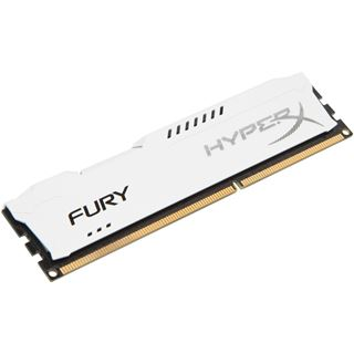 4GB HyperX FURY weiß DDR3-1600 DIMM CL10 Single