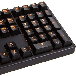 Ducky Shine 3 orange LED MX Brown CHERRY MX Brown USB Deutsch schwarz
