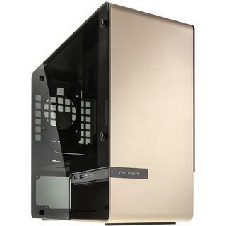 IN WIN 901 mit Sichtfenster Mini Tower ohne Netzteil gold