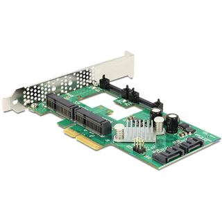Delock 89372 4 Port PCIe 2.0 x4 inkl. Low Profile Slotblech / Low Profile retail
