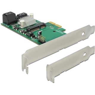 Delock Riser Card 3x SATA 6Gb/s 7Pin Buchse -> mSATA Slot