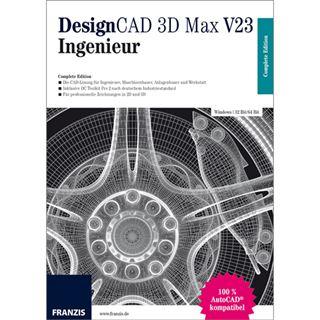 Franzis DesignCAD 3D Max V23 - Ingenieur Deutsch Grafik Vollversion PC (CD)