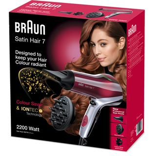 Braun Haartrockner+Diffusor SatinHair7 HD 770 Color Saver