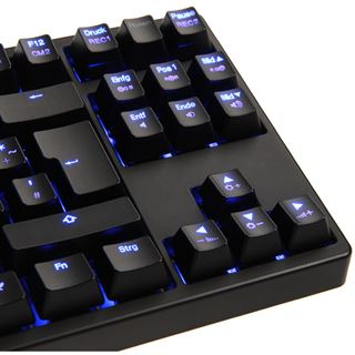 Ducky Shine 3 Slim blaue LED MX Blue CHERRY MX Blue USB Deutsch