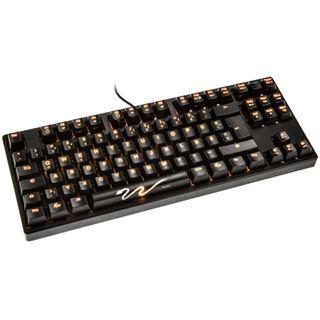Ducky Shine 3 Slim orange LED MX Brown CHERRY MX Brown USB Deutsch
