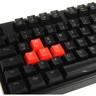 Ducky Shine 3 Slim orange LED MX Red CHERRY MX Red USB Deutsch schwarz (kabelgebunden)