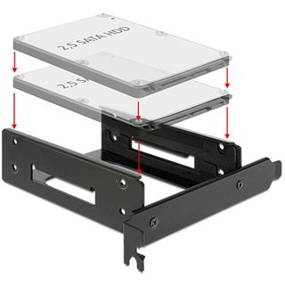 """Delock 18207 PCI Einbaurahmen für 2,5"""" Festplatten/SSDs (18207)"""