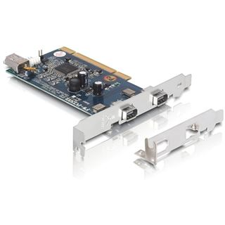 Delock PCI Card IOI/O FireWire 400 2+1 Ports + low Profile