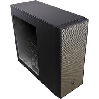 BitFenix Neos mit Sichtfenster Midi Tower ohne Netzteil schwarz/gold