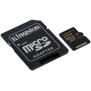 64 GB Kingston microSDXC UHS-I Retail inkl. Adapter auf SD