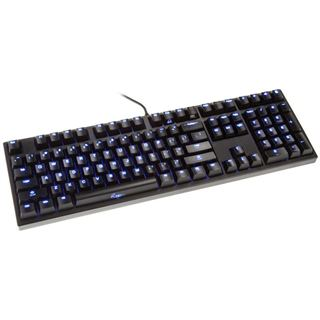 Ducky Zero Zone blaue LED MX Brown CHERRY MX Brown USB Deutsch schwarz (kabelgebunden)