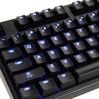 Ducky Zero Shine blaue LED CHERRY MX Black USB Deutsch schwarz